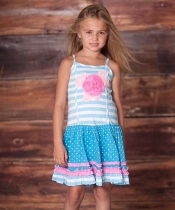 Porcelain Blue Emily Rose Dress - Infant & Toddler