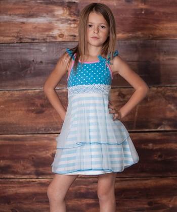 Porcelain Blue Dancer Dress - Infant, Toddler & Girls