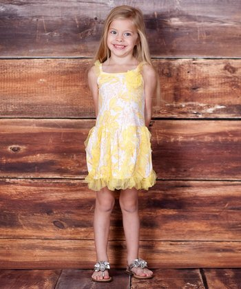 Buttercream Floral Oh-So-Lovely Dress - Infant, Toddler & Girls