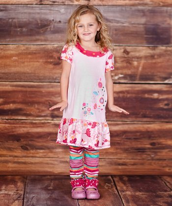 Pink Flower Dress & Leggings - Infant, Toddler & Girls