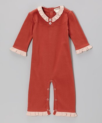 Rust Ruffle Organic Playsuit - Infant