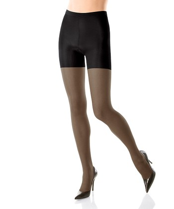 SPANX® All The Way Medium Control Sheer Pantyhose - Black