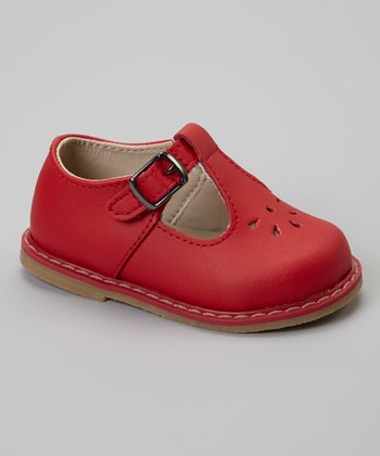 Red Tate T-Strap Shoe