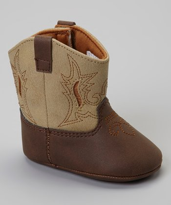 Cream & Brown Lil Cash Cowboy Boot