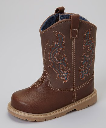 Brown Bronco Cowboy Boot