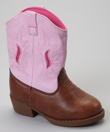 Pink & Brown Oakley Cowboy Boot