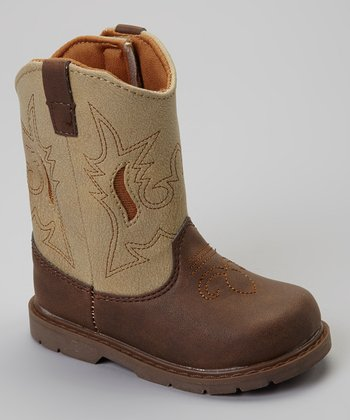 Cream & Brown Cash Cowboy Boot