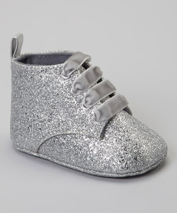 Silver Glitter Flash Ankle Boot