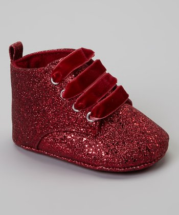 Red Glitter Flash Ankle Boot