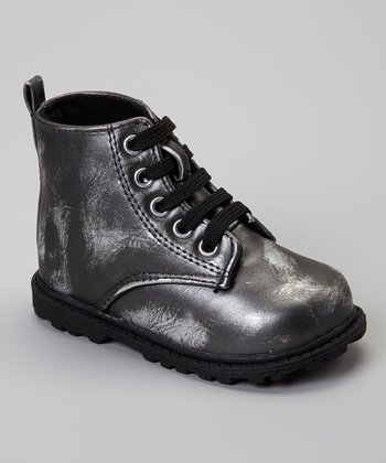 Pewter Metallic Highland Ankle Boot
