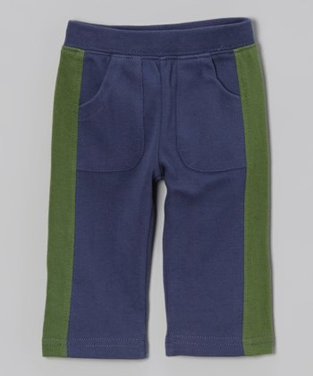 Indigo & Green Contrast Pants - Infant