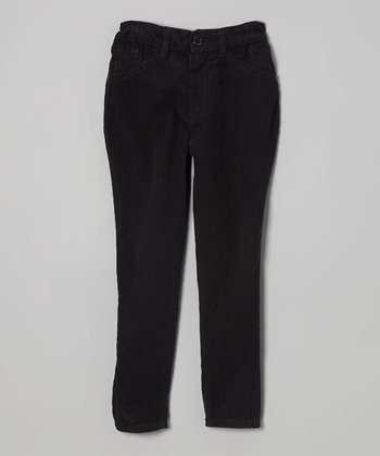 Black Stretch Corduroy Skinny Pants - Toddler & Girls