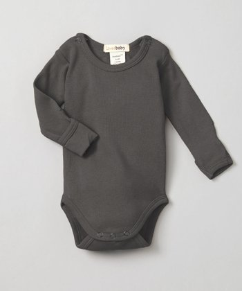 Clay Gray Gl'oved-Sleeve Bodysuit - Infant