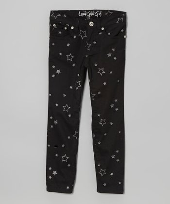 Black Star Skinny Jeans - Girls