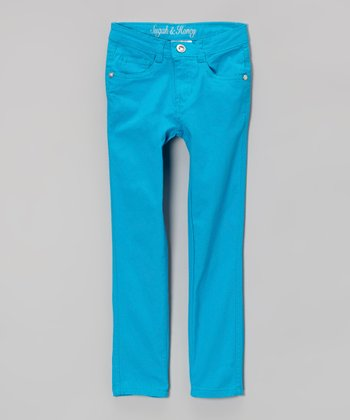 Bright Blue Skinny Jeans - Girls