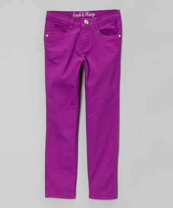 Purple Skinny Jeans - Girls