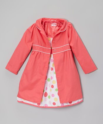Pink Polka Dot Halter Dress & Jacket - Infant, Toddler & Girls