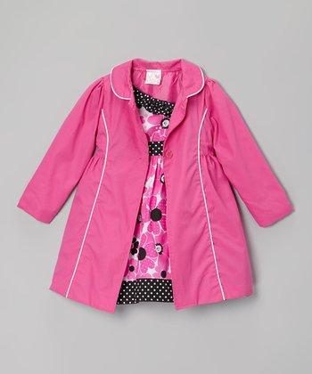 Hot Pink Floral Dress & Jacket - Infant, Toddler & Girls