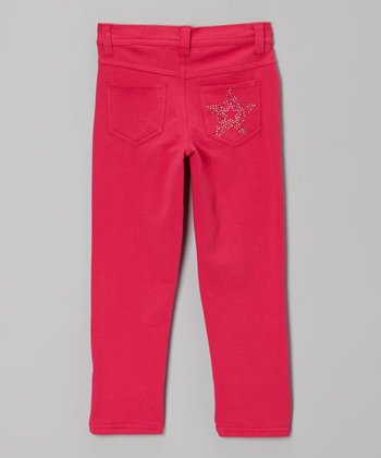 Pink Rhinestone Star Skinny Jeans - Toddler & Girls