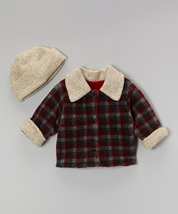 Charcoal Plaid Jacket & Beanie - Infant & Toddler