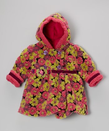 Berry Blooms Away Bubble Coat - Toddler & Girls