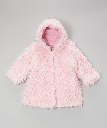 Pink Cuddle Bear Hooded Swing Coat - Infant