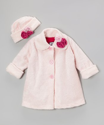 Pink Lambie Sweet Pea Coat & Hat - Toddler