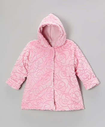 Pink Rose Softie Hooded Swing Coat - Infant