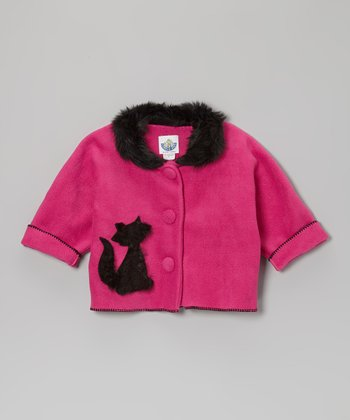 Watermelon Cat Faux Fur Jacket - Infant, Toddler & Girls