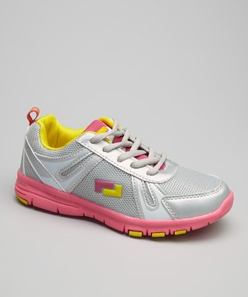 Gray & Fuchsia Action Running Shoe