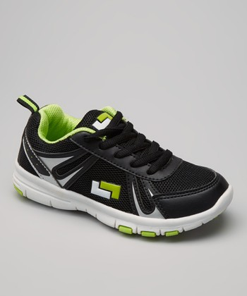 Black & Green Action Running Shoe