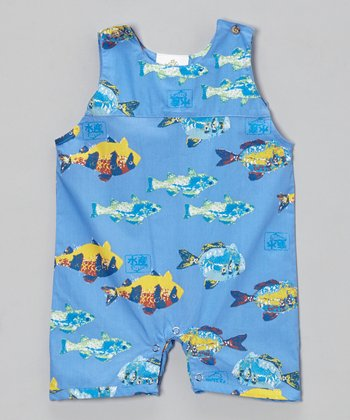 Blue & Yellow Gyataki Fish Romper - Infant