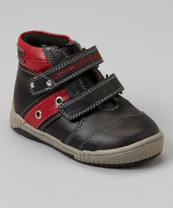 Black & Red Stripe Hi-Top Sneaker