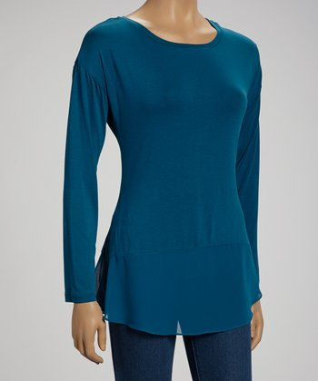 Teal Long-Sleeve Top