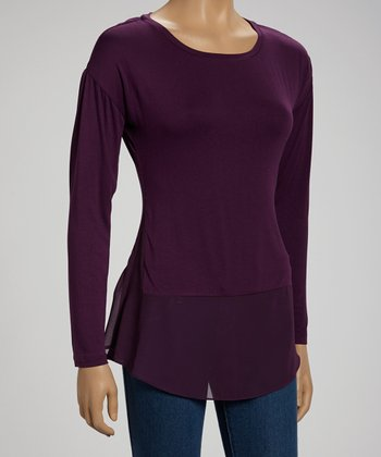 Grape Long-Sleeve Top