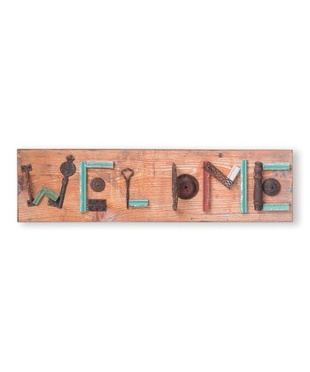'Welcome' Mixed Media Wall Art