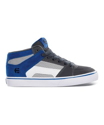 Gray & Blue RVM Vulc Hi-Top Sneaker