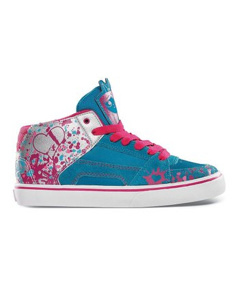 Blue & Pink Disney RVM Hi-Top Sneaker