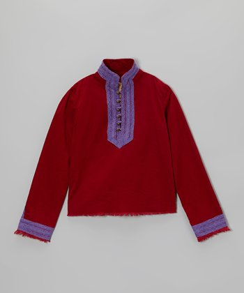 Ruby Button-Placket Top - Girls