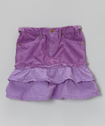 Violet Tiered Ruffle Skirt - Girls