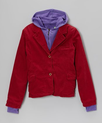 Ruby Corduroy Layered Blazer - Girls