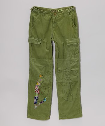 Avocado 'Love' Cargo Corduroy Pants - Girls