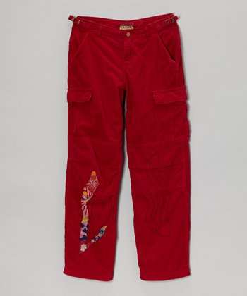 Ruby 'Love' Cargo Corduroy Pants - Girls
