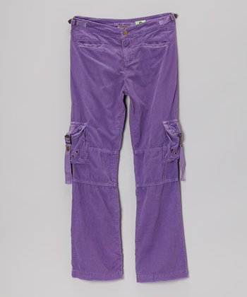 Violet Rivet Cargo Pants - Girls