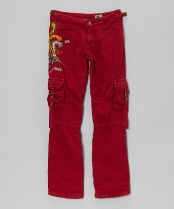 Ruby Feather Cargo Pants - Girls