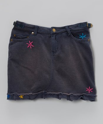Ink Daisy Skirt - Girls