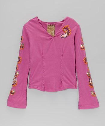 Mulberry Paisley Top	- Girls
