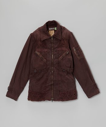 Huckleberry Crotchet Light Twill Jacket - Girls
