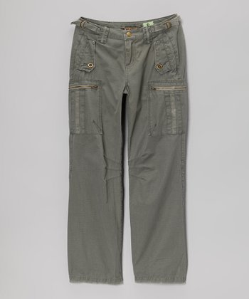 Smoke Zipper Cargo Pants - Girls