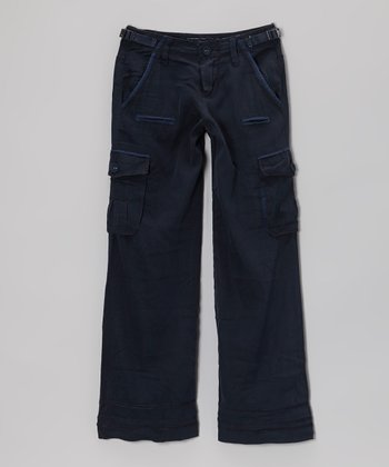 Bijou Silk-Blend Straight-Leg Pants - Girls